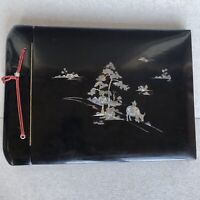 vintage photo album Vietnam Wood with mother of pearl inlay
