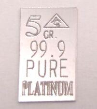 1 Platinbarren 0,324 Gramm 99,9 Barren Platin Platinum PT Feinplatin Geschenk