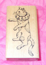 Rare Rubber stamps of America cat Rubber stamp costume Harlequinn Circus cats