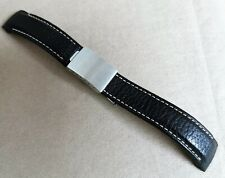 Tudor stainless steel deplo mm 20 and leather strap mm 20 black