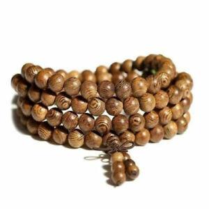 Bracelet 108 perles Homme Femme Bois de wengé  8mm -  Méditation Mâlâ Tibétain