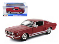 1967 Ford Mustang GT Red 1:24 Diecast Model - 31260R *