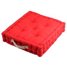 Epais coussin de sol en coton Rouge et Lin 45 cm