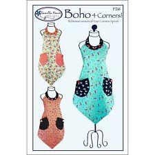 """VANILLA HOUSE """"BOHO 4 CORNERS!"""" APRON Sewing Pattern"""