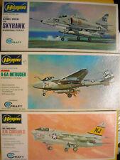 NIB Hasegawa Navy Attack Wing A-4F Skyhawk A-6A Intruder A-7A Corsair II 1:72