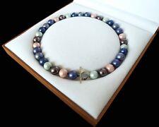 Wunderbar 12mm runde Mischfarbe Schale Perle Halskette 18 zoll
