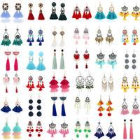 Fashion Bohemian Earrings Women Long Tassel Fringe Boho Dangle Earrings Jewelry