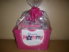 Bouncing Baby Girl 19  piece Baby Shower Gift Basket or Centerpiece