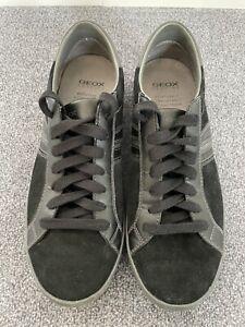 GEOX Respira Sneaker in schwarz grau Herrenschuhe Gr. 42 NEUWERTIG