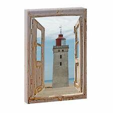 Bild auf Leinwand Fensterblick Nordsee Strand Meer Poster XXL 100 cm*65 cm 210