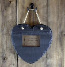 SALE ❀ڿڰۣ❀ VALENTINE HEARTS of WELSH SLATE Handmade PICTURE FRAME and DECORATION