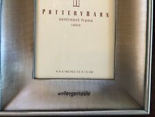 "Pottery Barn ""Unforgetable"" Pewter Frame"