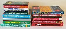 Lot of 15 Casino Gambling Strategy Books Craps Poker Video Poker Preowned Hb Sc