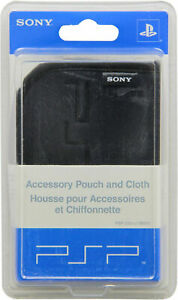Official Sony PSP Carry Pouch Case with Pouch Blac for Sony PlayStation Portable