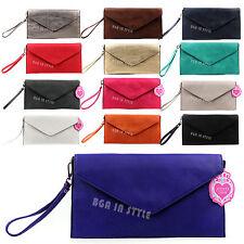 Ladies Womens Flap Envelope Evening Clutch Bag Purse