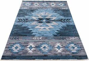 Southwestern 8x10 Rug Navajo Native American Inspired Modern Faded Tribal Floor