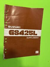 Suzuki Gs425 L Oem factory Repair Manual Supplement booklet 1979 Gs 425L