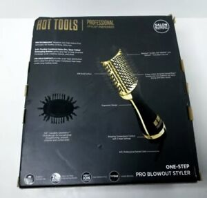 Hot Tools Professional 24k Gold One-Step Salon Blowout Hair Styler Brush HT1076