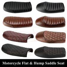 Hlyjoon Motorcycle Saddle Seat Motorbike Universal Hump Brat Styling Retro Classic Saddle Cafe Racer Seat Racer Seat Hump Saddle Cushion Black