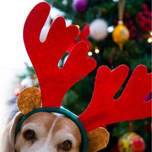 Christms Xms Hir Hednd Reindeer Prop Gift Prty Girl Adult Kid Dress Up