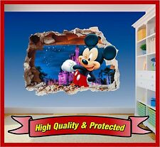 Mickey Mouse Hole in Wall - Disney Printed Vinyl Sticker Decal Childrens Bedroom