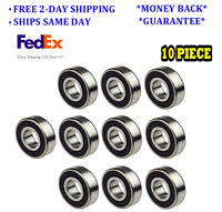 6206-2RS Ball Bearing Dual Sided Rubber Sealed Deep Groove 30x62x16mm (10PCS)