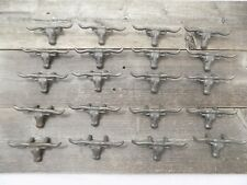 20 CAST IRON STEER COW BULL DRAWER PULLS HANDLE CABINET HARDWARE KITCHEN WESTERN