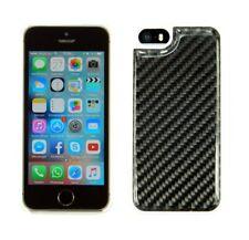 CARBON iPhone 5 5S SE Schutz-Hülle Schale Cover Case mit weißem Rand