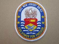 USS New Jersey BB-62 US Navy USN Military Cloth Patch Badge