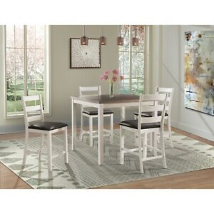 Picket House Furnishings Kona Brown 5PC Counter Height Dining Set