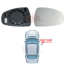 AUDI A1 2010->2017 DOOR MIRROR GLASS SILVER ASPHERIC,HEATED & BASE,RIGHT SIDE