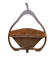Bambus Obstkorb Birne Dekoschale Obstschale Holz Design faltbar