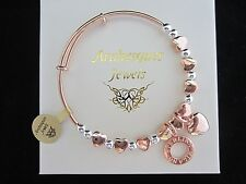 ARABESQUES JEWELS LOVE HEART CHARM BANGLE/BRACELET GENUINE MI STERLINA MILANO