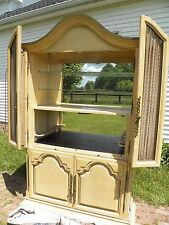 Vintage French Country Provincial Liquor Bar Cocktail Cabinet Wine storage