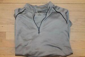 adidas Golf Gray Quarter Zip Athletic Jacket, Large