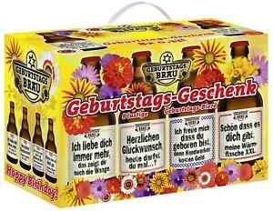Geburtstags - Geschenk Bier im 8er Geschenkkarton Geschenkebiere