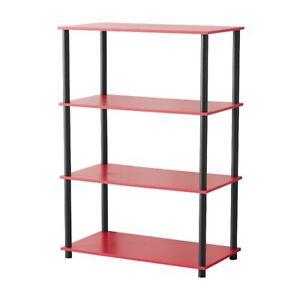 No Tools 4 Tier Shelf Storage Bookshelf Bookcase Display Organizer Multi Colors