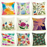 Decorative Cushion Cover Butterfly Dragonfly Sofa Couch Bed Throw Pillow Case