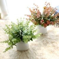 Artificielle faux fleur de soie plante d'eucalyptus feuilles décoration mariage