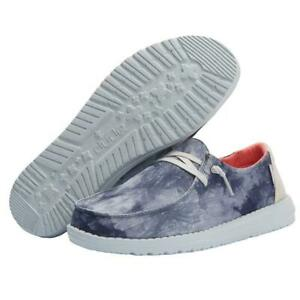Hey Dude Wendy Tie Dye Navy Lightweight Casual Comfortable Slip On Women's Shoes