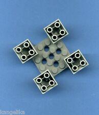 Lego--30373--6 x 6 x 2--4 Fachstein--Grau/OldGray--