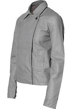 Nixon Foxy Faux Leather Jacket (M) Foxy Grey
