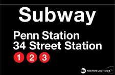 Penn Station New York City Subway Station Sign Metal