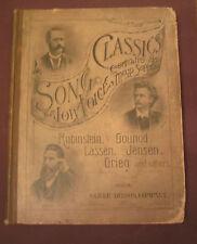 antique Song Classics Low Voice Rubinstein Gounod Lassen Jensen Grieg music note