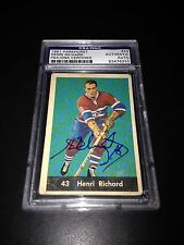 Henri Richard Signed 1961-62 Parkhurst Card Canadiens PSA Slabbed #83476255