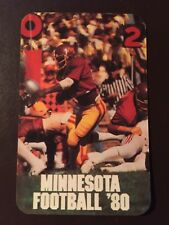 Minnesota Gophers 1980 NCAA football pocket schedule - First Banks