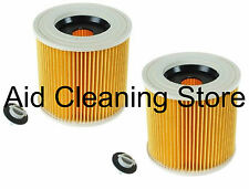 KARCHER Vacuum Cleaner Hoover Filter 2 x Wet & Dry Cylinder Cartridge Filters