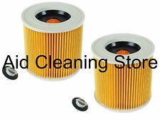 2 x Wet & Dry Filter for KARCHER MV2 SE4001 SE4002 WD2200 WD2210 Vacuum Cleaner