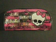 Monster High Striped Zippered7.5x3.5inPenc il Case