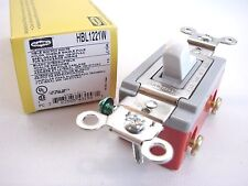 Hubbell HBL1221W Single Pole Spec. Grade Toggle Switch 120/277 20A White  t31